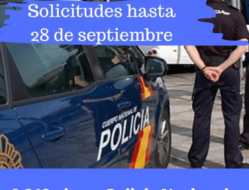 Convocadas plazas para Policía Nacional 2021