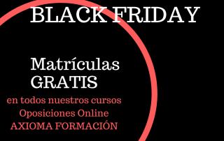 Oposiciones online Black Friday