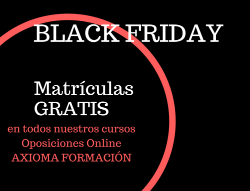 Black Friday 2019 en Oposiciones online