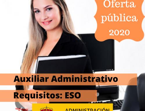 Acuerdo con 1.012 plazas de Auxiliares Administrativos del Estado